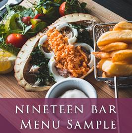 Lanhydrock Hotel Nineteen Bar Menu Image