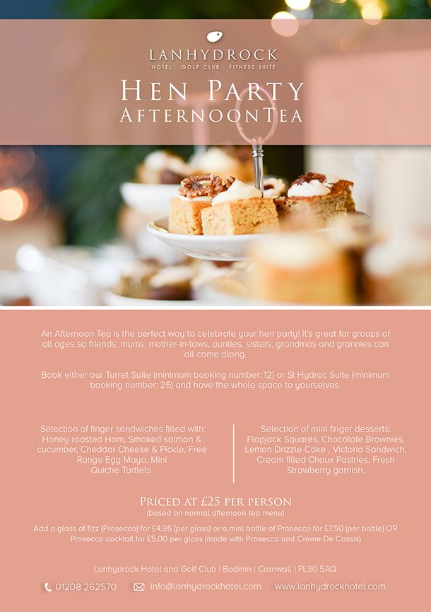 Hen Party Afternoon Tea Offer Poster Image