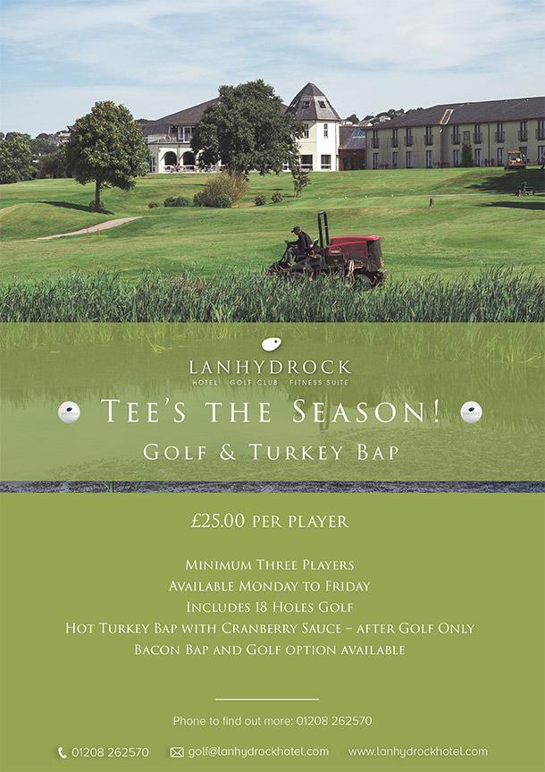 Tee's The Season - Golf & Turkey Bap Offer Poster