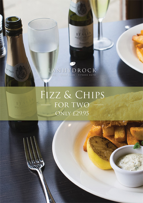 Fizz & Chips For Two Offer Poster