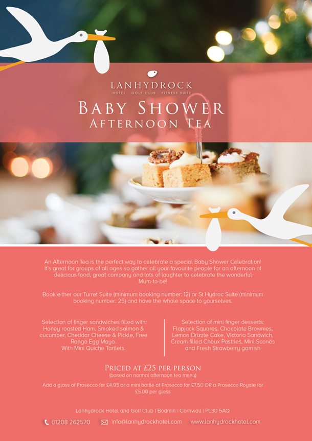 Baby Shower Afternoon Tea Offer Poster Image