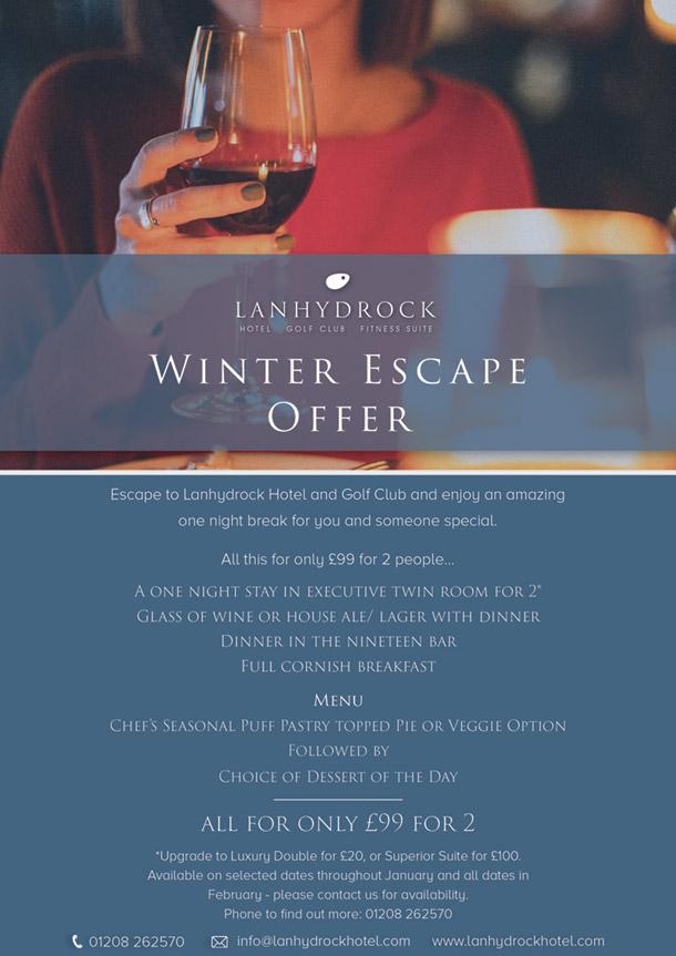 Lanhydrock Winter Escape poster