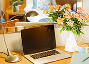 Executive Twin Room Bedroom Flower Lanhydrock Hotel